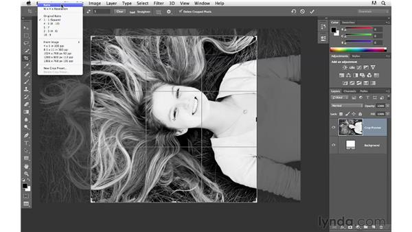 Changing image size and resolution with the Crop tool: Photoshop CS6 for Photographers New Features