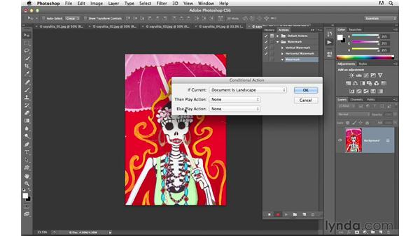 Using conditional actions to add watermarks: Photoshop CS6 for Photographers New Features