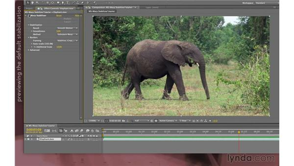 Warp Stabilizer basics: After Effects Apprentice 12: Tracking and Keying