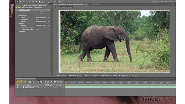 Warp Stabilizer advanced parameters: After Effects Apprentice 12: Tracking and Keying