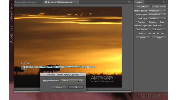 Applying the results: After Effects Apprentice 12: Tracking and Keying