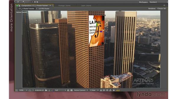 Hanging a poster (new in CS6): After Effects Apprentice 12: Tracking and Keying