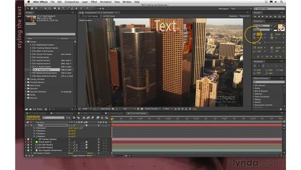 Adding text (new in CS6): After Effects Apprentice 12: Tracking and Keying