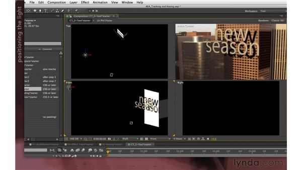 Using shadow catchers (new in CS6): After Effects Apprentice 12: Tracking and Keying