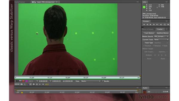 Tracking dots: After Effects Apprentice 12: Tracking and Keying