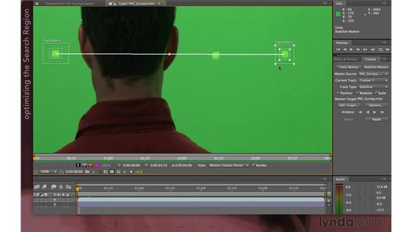 Dealing with obscuration: After Effects Apprentice 12: Tracking and Keying