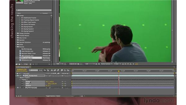 Cleaning up the stabilization: After Effects Apprentice 12: Tracking and Keying