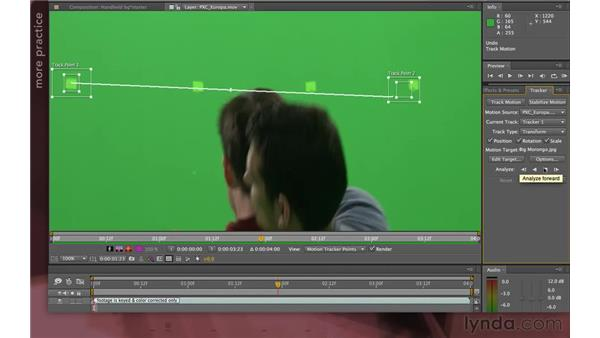 Quizzler #3 solution: Copying a camera's motion: After Effects Apprentice 12: Tracking and Keying