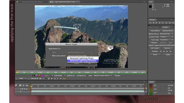 Tracking for multiple effect points: After Effects Apprentice 12: Tracking and Keying