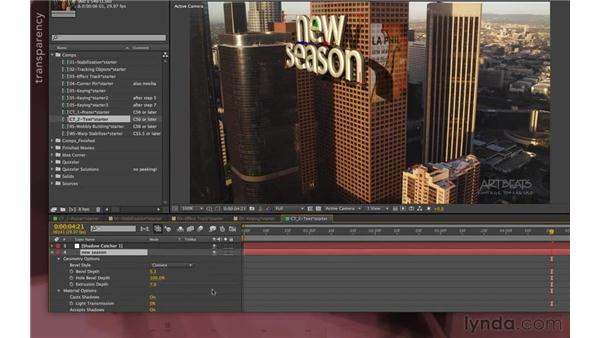 Converting to ray-traced 3D (new in CS6): After Effects Apprentice 12: Tracking and Keying