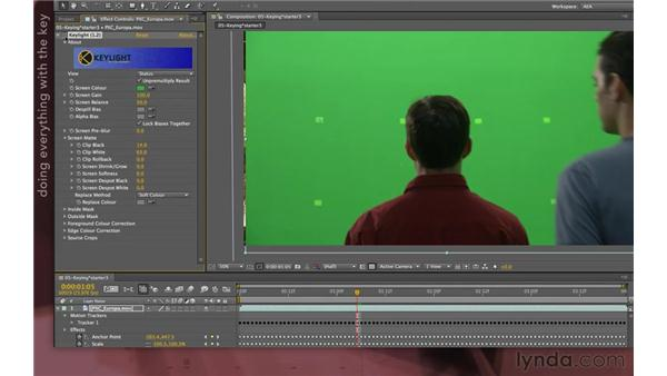 Using garbage masks for keying: After Effects Apprentice 12: Tracking and Keying