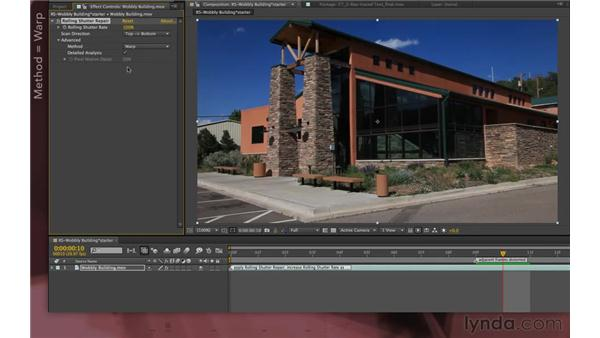 Using the Rolling Shutter Repair feature (new in CS6): After Effects Apprentice 12: Tracking and Keying