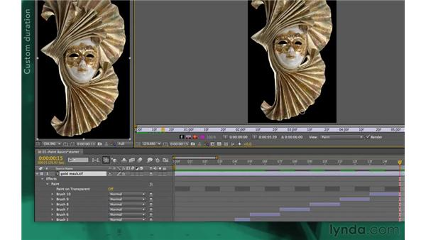 Duration options: After Effects Apprentice 13: Paint, Roto, and Puppet