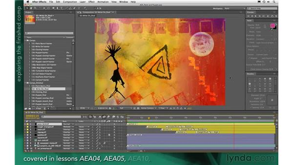 Examining a finished write-on animation: After Effects Apprentice 13: Paint, Roto, and Puppet