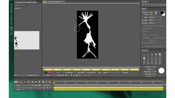 Creating a reveal stroke: After Effects Apprentice 13: Paint, Roto, and Puppet