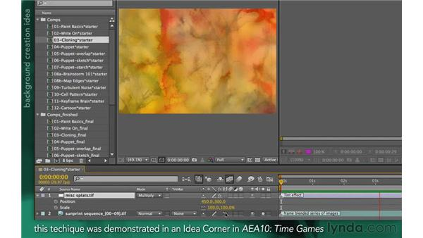 An introduction to cloning: After Effects Apprentice 13: Paint, Roto, and Puppet