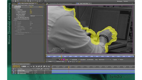 Adjusting propagation settings: After Effects Apprentice 13: Paint, Roto, and Puppet