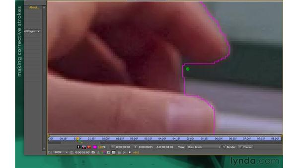Making corrective strokes: After Effects Apprentice 13: Paint, Roto, and Puppet