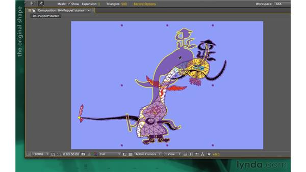 Distorting a layer: After Effects Apprentice 13: Paint, Roto, and Puppet