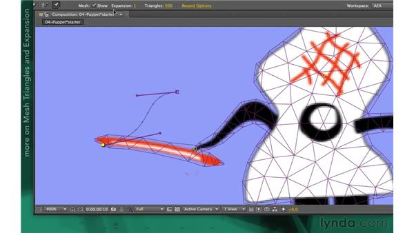 Keyframing a puppet animation: After Effects Apprentice 13: Paint, Roto, and Puppet