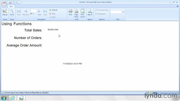 Using functions in a report: SQL Server Reporting Services in Depth