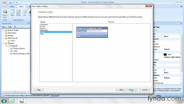 Displaying data in a matrix: SQL Server Reporting Services in Depth