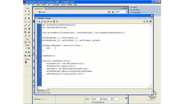 exercise: video 2: ActionScript 2.0 Essential Training