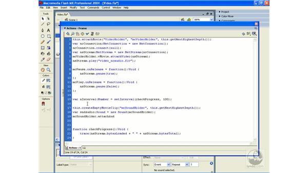 audio and video: ActionScript 2.0 Essential Training