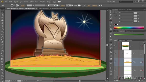 Reinstating the colors of a clipping path: Illustrator CS6 One-on-One: Advanced