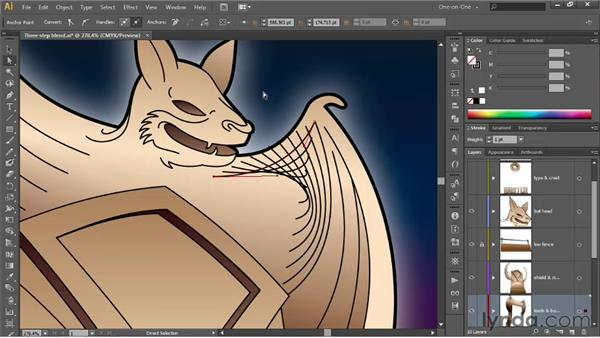 Fixing problems with the Blend tool: Illustrator CS6 One-on-One: Advanced