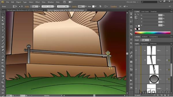 Blending between entire groups: Illustrator CS6 One-on-One: Advanced