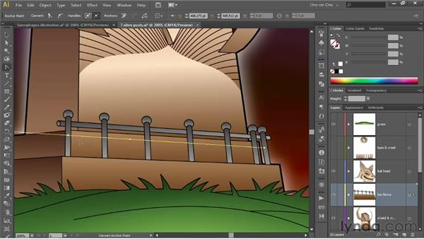 Adjusting the speed of a blend: Illustrator CS6 One-on-One: Advanced