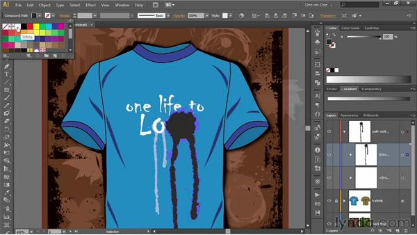 Customizing a single character of type: Illustrator CS6 One-on-One: Advanced
