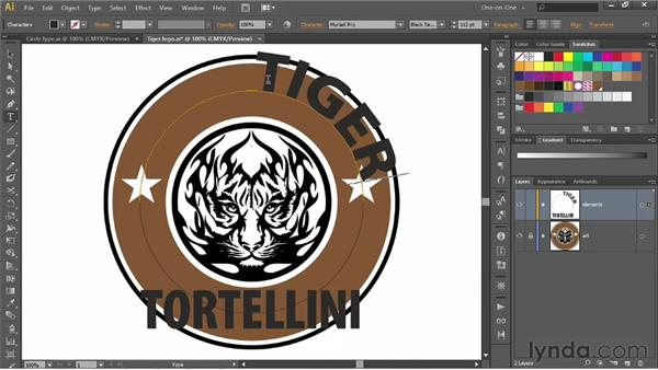 Creating logo type along an open path: Illustrator CS6 One-on-One: Advanced