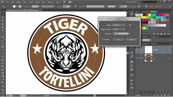 Vertical alignment, orientation, and spacing: Illustrator CS6 One-on-One: Advanced