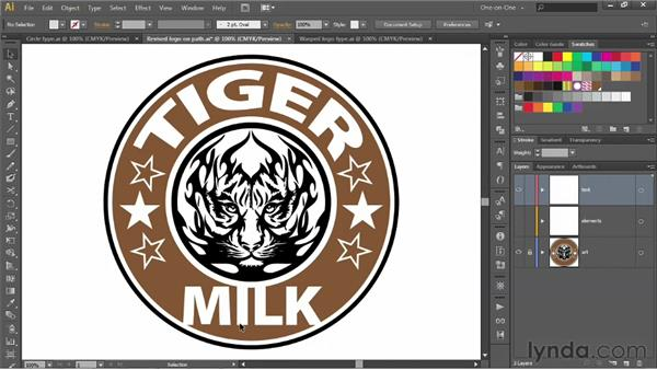 Warping logo type around a circle: Illustrator CS6 One-on-One: Advanced