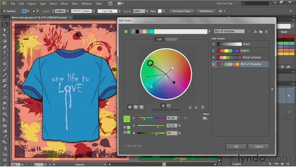 Working in the Edit Colors dialog box: Illustrator CS6 One-on-One: Advanced