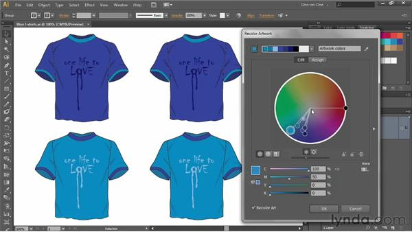 Introducing the Recolor Artwork command: Illustrator CS6 One-on-One: Advanced