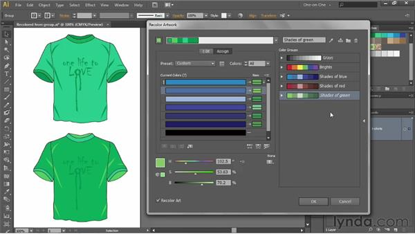 Changing the color-assignment order: Illustrator CS6 One-on-One: Advanced