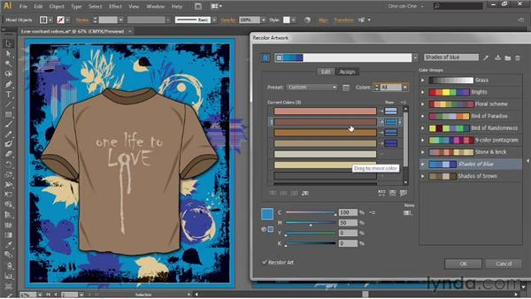 Reducing the number of colors in your art: Illustrator CS6 One-on-One: Advanced