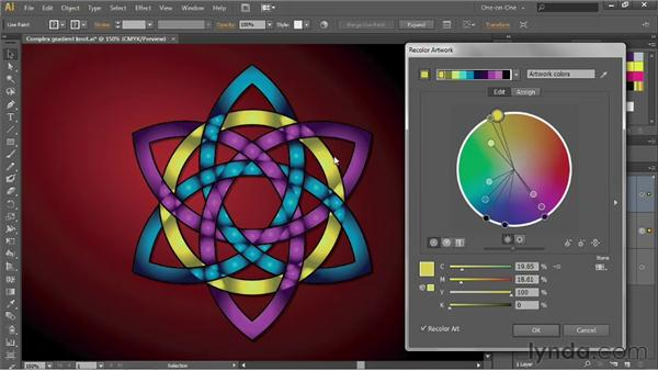 Recoloring artwork that contains gradients: Illustrator CS6 One-on-One: Advanced
