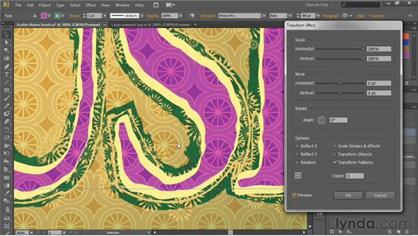 Formatting and scaling brushed text: Illustrator CS6 One-on-One: Advanced