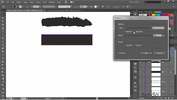 Designing a custom art brush: Illustrator CS6 One-on-One: Advanced