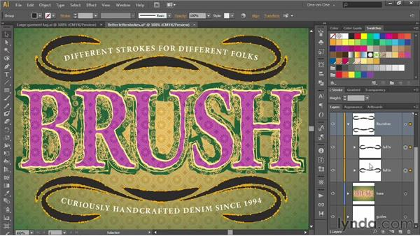 Expanding, filling, and stroking a brush: Illustrator CS6 One-on-One: Advanced