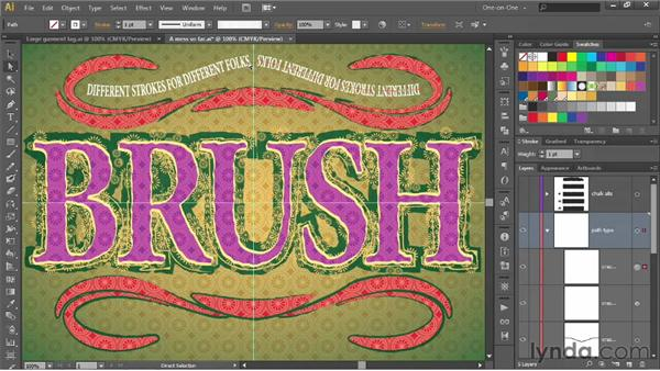 Distorting text with the Width tool: Illustrator CS6 One-on-One: Advanced