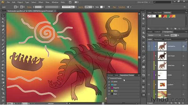 Darken, Multiply, and Color Burn: Illustrator CS6 One-on-One: Advanced