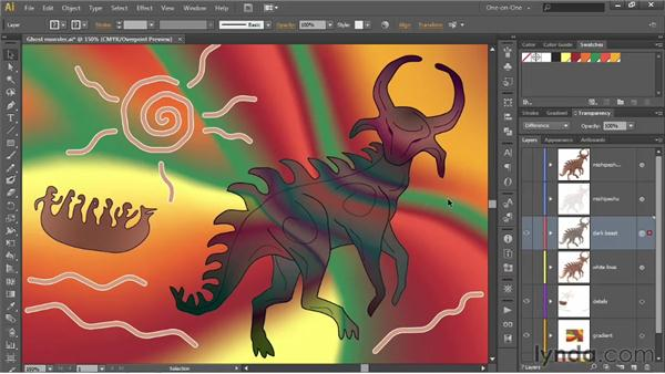 Overlay, Soft Light, Hard Light, Difference, and Exclusion: Illustrator CS6 One-on-One: Advanced