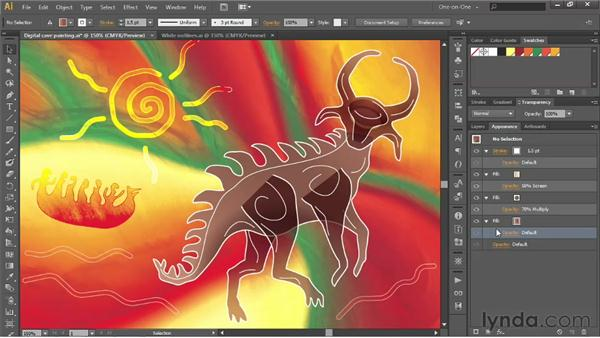 Isolating blending and Knockout Group: Illustrator CS6 One-on-One: Advanced