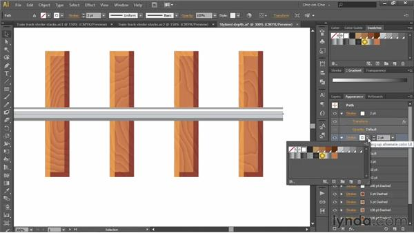 Adding, layering, and offsetting strokes: Illustrator CS6 One-on-One: Advanced