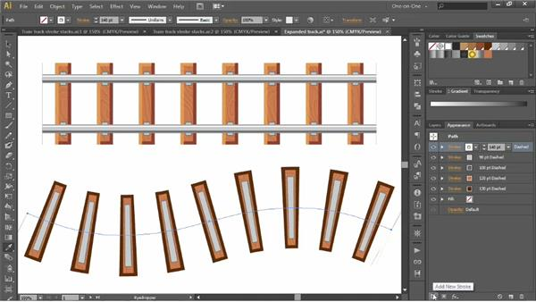Simplifying a multi-stroke effect: Illustrator CS6 One-on-One: Advanced